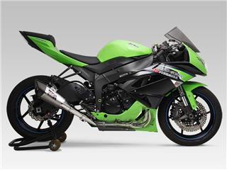 Yoshimura R11 Single Exit stainless full system stainless muffler for Kawasaki ZX6R - 750181