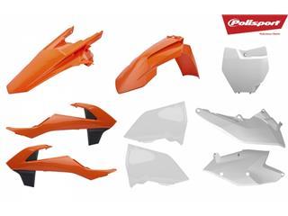 Kit plastique POLISPORT couleur origine (2018) orange/blanc KTM SX/SX-F - 790699ST