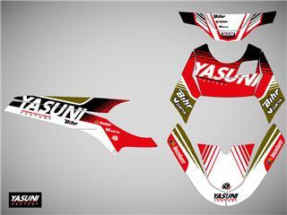 Kit deco KUTVEK Yasuni Factory rouge/noir Rieju MRT 50