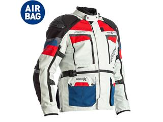 Veste RST Adventure-X Airbag CE textile Ice/Blue/Red taille L homme - 814000510770