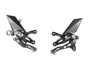 LIGHTECH Adjustable/Foldable Rearset Standard Shifting Black Aprilia RSV4/Tuono V4