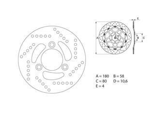 BREMBO Oro Brake Disc Round Fix - 53.240714