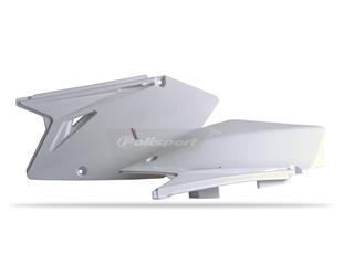 Plaques latérales POLISPORT blanc Suzuki RM-Z450 - 786038WH