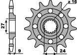 Pignon PBR 17 dents acier Racing pas 520 type 2192 Suzuki GSX-R1000