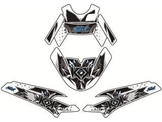 Kit déco KUTVEK Demon bleu MBK Nitro/Yamaha Aerox
