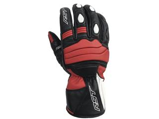 RST Jet Gloves CE Leather/Textile Red Size L/10