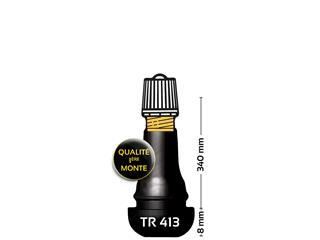 BIHR TR413 Rubbered Straight Tire Valve
