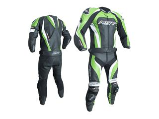 RST TracTech Evo 3 Jacket CE Leather Green Size S - 7b087848-40c3-4d50-b255-335bfa98dd8a