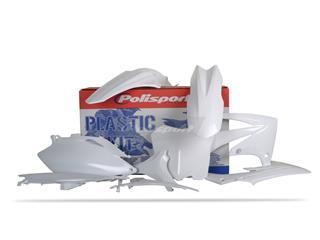 Kit plastique POLISPORT blanc Honda CRF250F/CRF450F - PS211W08