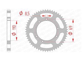 Couronne AFAM 60 dents acier standard pas 428 type 59104 - 47002541