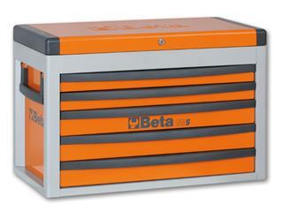 Cajonera portátil BETA, naranja, cinco cajones