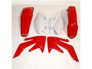 UFO Plastic Kit OEM Color Red/White Honda CRF250R