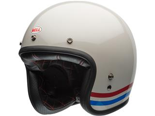 Casque BELL Custom 500 DLX Stripes Pearl blanc taille L