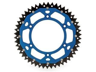 Couronne ART Bi-composants 48 dents aluminium/acier ultra-light anti-boue pas 520 type 897 bleu