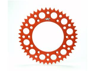 Couronne RENTHAL Ultralight™ 50 dents alu anti-boue pas 520 type 224U anodisé orange KTM - 491310