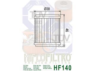 Filtro de Aceite Hiflofiltro HF140 - 7d1b6669-88f6-4323-906d-48dc55e0d8c4