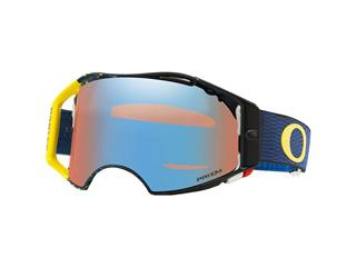 Masque OAKLEY Airbrake MX Equalizer Blue/Yellow écran Prizm MX Sapphire Iridium