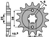 Pignon PBR 15 dents acier standard pas 525 type 290 Honda XBR500 - 46000073