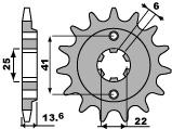 Pignon PBR 16 dents acier standard pas 525 type 293 Honda VT600C Shadow J