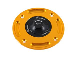 LIGHTECH Fuel Tank Cap Black/Gold Quick Lock Kawasaki 300