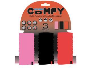 OXFORD Comfy Pink/Black/Red Multifunctioneel Hoofd- en Halsdoek 3 stuks