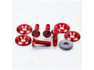 Kit tornillos/arandelas avellanados Pro-Bolt (4 pack) Aluminio rojo CSKIT622625R