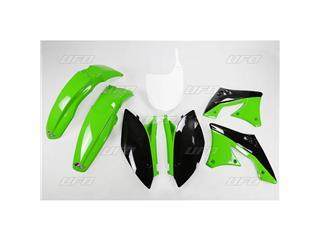 UFO Plastic Kit OEM Color Green/Black Kawasaki KX250F - 78244000