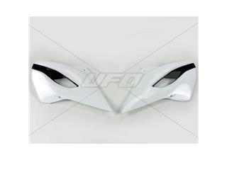Plásticos laterales de radiador UFO Husqvarna blanco / negro HU03353-041