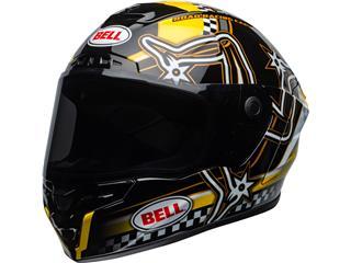 BELL Star DLX Mips Helmet Isle of Man 2020 Gloss Black/Yellow Size XL - 800000020571