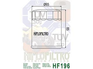 HIFLOFILTRO HF196 Oil Filter Polaris Sportsman 600/700 - 802dfefb-5441-42c9-b836-01cae8065b50