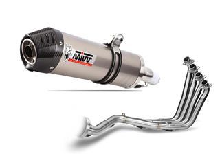 MIVV OVAL Titanium/Carbon End Cap Full Exhasut System Honda CBR650F