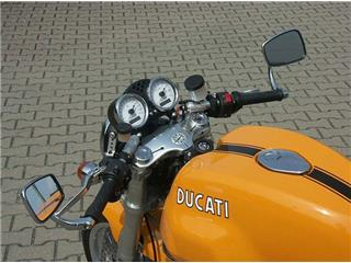 LSL Tour Match Raised Clip-on Bars Silver Ducati Sport 1000