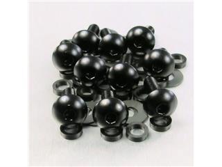 PRO BOLT Dome Head Fairing Screws M5x0,8x16mm Aluminium Black 10 pieces