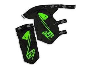 UFO Jackal Knee/Shin Guards STF Black/Green Adult Size L/XL