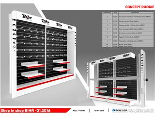 Concept shop-in-shop corner BIHR - Tablette supplémentaire - 980773
