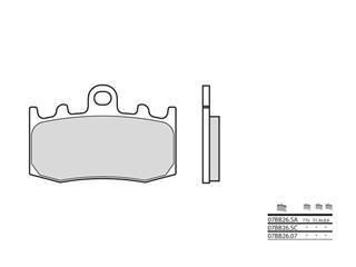 Plaquettes de frein BREMBO 07BB26SC métal fritté - 38800312