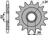 Pignon 13 dents PBR chaîne 520 Yamaha YZ125  - 464210313