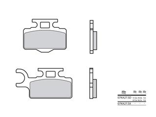Plaquettes de frein BREMBO 07KA27SD métal fritté