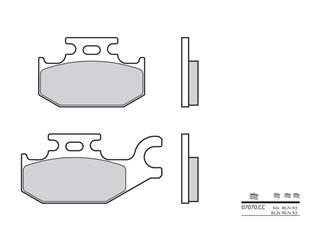 BREMBO Brake Pads 07070CC Carbon Ceramic