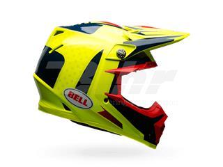 CASCO BELL MOTO-9 CARBON FLEX VICE AZUL/AMARILLO 55-56 / TALLA S