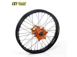 HAAN WHEELS Complete Rear Wheel 17x4,25x36T Black Rim/Orange Hub/Silver Spokes/Silver Spoke Nuts