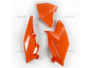 Plaques latérales + cache boîte à air UFO orange KTM SX85 - 78528153