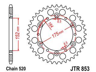 Couronne JT SPROCKETS 48 dents acier pas 520 type 853 - 47085348