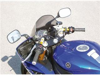 LSL Tour Match Raised Clip-on Bars Silver Yamaha YZF-R6