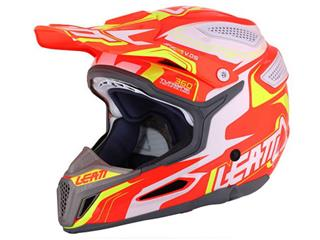 Casque LEATT GPX 5.5 Composite orange/jaune/blanc T.L - 433450L