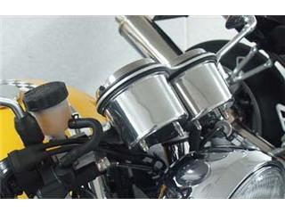 Cache compteur kilométrique + compte-tours aluminium LSL triumph Thruxton