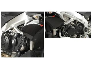 Tampons de protection R&G RACING Aero noir Aprilia Tuono V4/R
