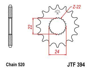 Pignon JT SPROCKETS 17 dents acier pas 520 type 394 - 46039417