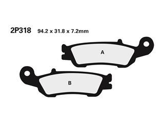 Plaquettes de frein NISSIN 2P318ST métal fritté Yamaha - 2P318ST
