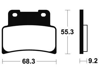 Plaquettes de frein TECNIUM MSS344 métal fritté - 87ab1a73-9ec2-482e-a172-49294dab476b